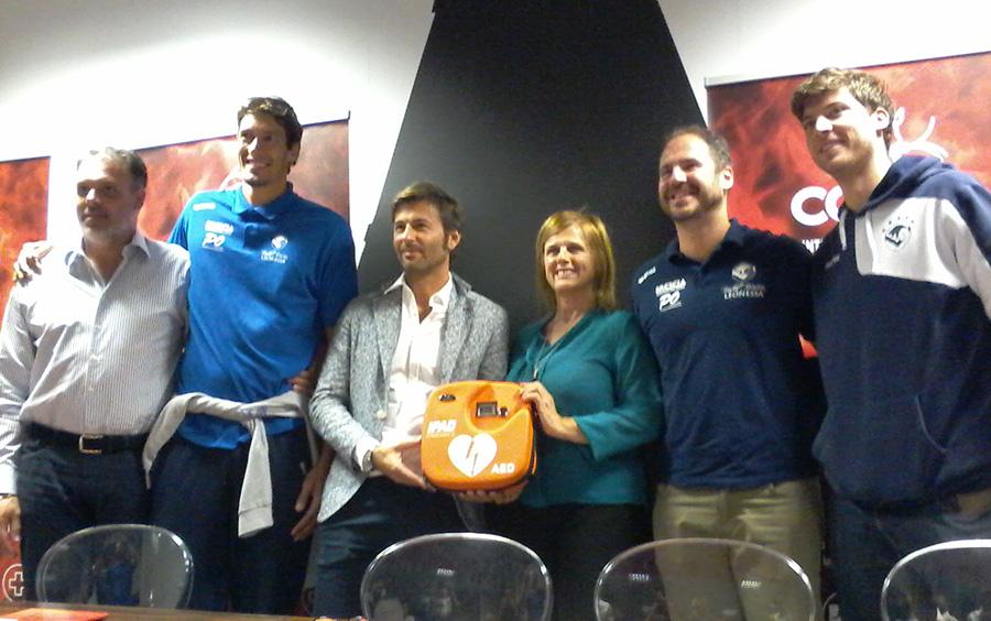 Consul Group basket Brescia defibrillatore