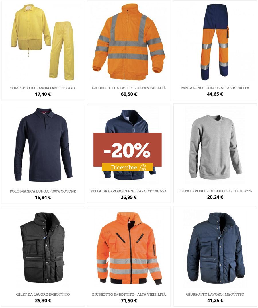 Promo abbigliamento invernale: -20%