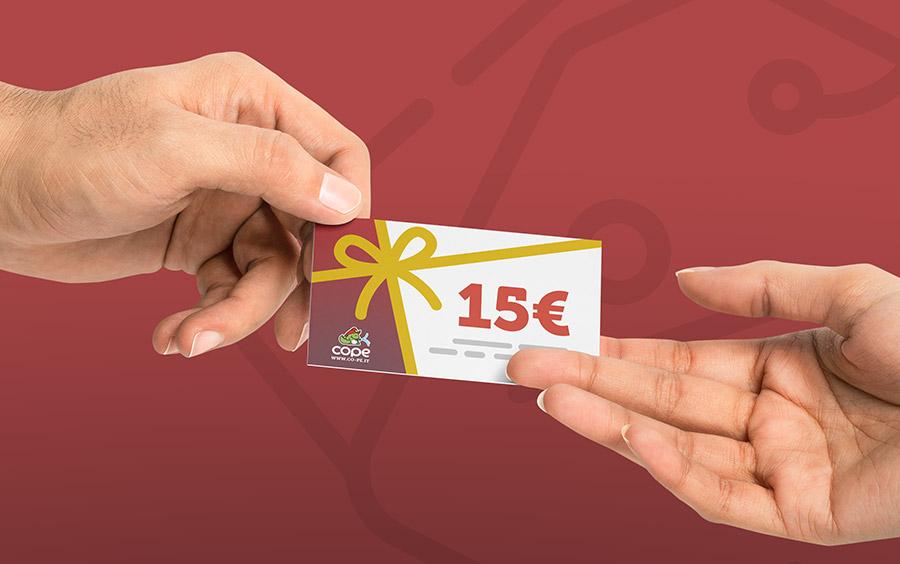Regala vantaggi a un amico, ricevi un buono da 15€