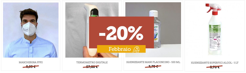Febbraio: prodotti scontati al -20%